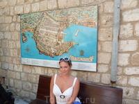 Карта старого-крепостного Дубровника. Эта крепость внесена во всемирный список памятников наследия ЮНЕСКО