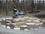 Рядом с Мостиком у самого пруда скульптура женщины с ребенком, похожим на Пушкина. Убей - не помню, что это значит и по какому поводу.