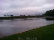 Один из прудов в петергофском парке.