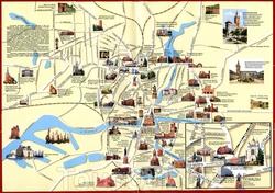 Карта Калининграда с достопримечательностями