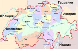 Karta Shvejcarii S Dostoprimechatelnostyami Oteli Mesta Foto Na Karte