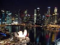 Вид с Singapore flyer