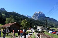Нижняя станция канатной дороги на платформу Альпшпикс (AlpspiX), на высоту над ур. моря - 2080м