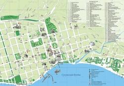 Карта Сухуми с улицами