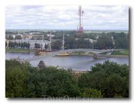 Вид со стены Кремля.