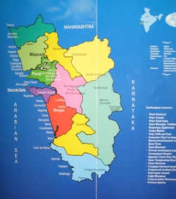 Карта штата Гоа