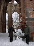 Развалины Домского собора.