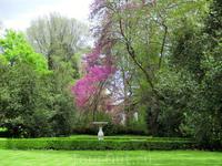 Еще один из красивых фонтанов парка - фонтан Дельфинов.