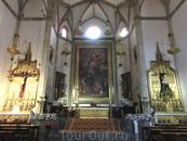 Главный алтарь с полотном La última comunión de san Jerónimo (Последнее причастие Святого Иеронима) работы  мурсианского художника Rafael Tejeo. Часть ...