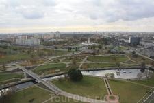 Вид на город с 22 этажа Минской библиотеки.