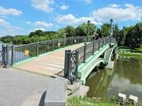 Вот такой мостик ведет к дворцовому комплексу