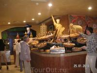 хлебный уголок в ресторане отеля