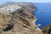 город на склонах острова Санторини