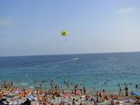 Ницца. Пляж и водные атракционы.
