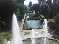 Большой фонтан и каскад. Внизу рыбные садки