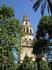 Вид на колокольню собора (мечети) в Кордове.