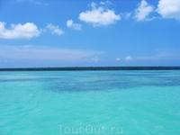 По дороге на о. Саона. Карибское море.
