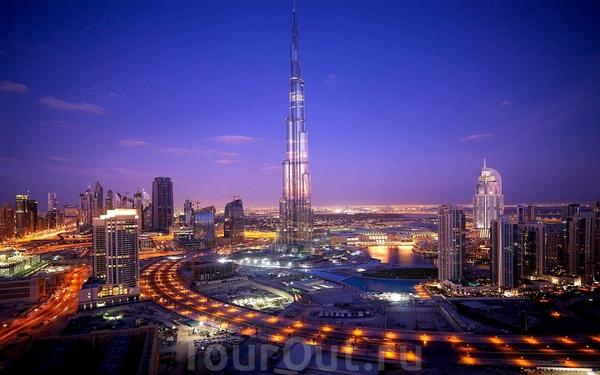 ночная панорама.   Дубай.