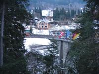 Мост через ущелье в Сен-Жэрве