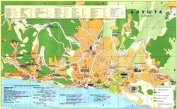 Карта Алушты с улицами