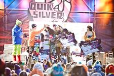 награждение победителей Quiksilver New Star invitational в Игоре
