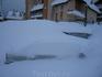 А это 7 ноября 2005г. Снег был такой, что все машины занесло по крыши. Еле откопались и выехали оттуда, снег мокрый, уклон.