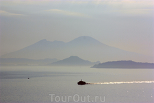 Везувий и Неаполитанский залив на рассвете