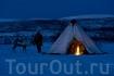 """Традиционное жилье саамов """"лавву"""". Губерния Финнмарк, Северная Норвегия. Foto: Terje Rakke/Nordic Life/Innovation Norway"""
