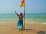 с индийским флагом