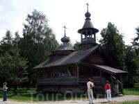Часовня в музее деревянного зодчества под Новгородом