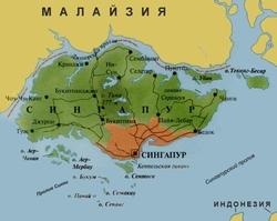 Карта Сингапура на русском