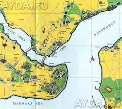 Карта города Стамбул
