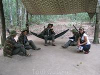 туннели Кути , с партизанами