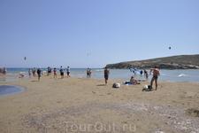 Мыс Прасоники. Самая южная точка острова Родос. Поцелуй двох морей.