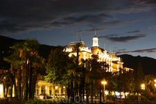 городок Стреза вечером