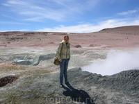 гейзеры национального парка в Боливии