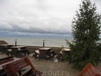 Берег Балтийского моря. Не очень уютно. Ветер