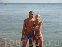 Мы с мужем на море