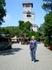 На фона Ахунской башни