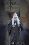 Патриарх Кирилл по окончании службы в Преображенском соборе монастыря.