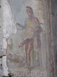 Фреска в Доме Веттиев (Помпеи), изображающая Приапа.Приап в античной мифологии древнегреческий бог плодородия.