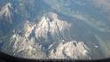 Летим над Альпами.