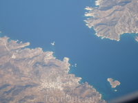 острова -с высоты 10500метров.Греция.