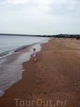 Бескрайний пляж в Новоотрадном