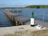Пейзаж заснят рано утром, на берегу Новосибирского водохранилища, что в г. Бердске (помните одноименную электробритву?)