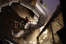 Лестница в водонапорной башне (подняться можно на лифте, а спускаться интереснее пешком)