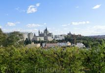 Из Parque del Oeste открывается прекрасный вид на королевский дворец и Собор Альмудены.