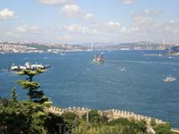 Вид на Босфор из Дворца Топкапи.