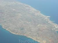 Вид с самолета на Ларнаку