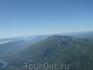 Виды горной Швейцарии с самолета.